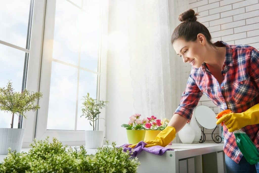 How do you prevent dust at home