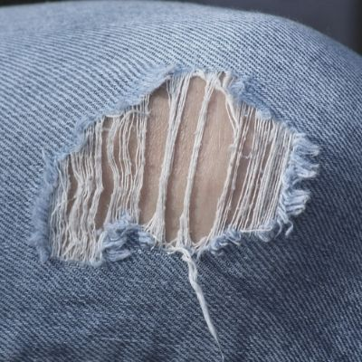 How do you repair jeans?
